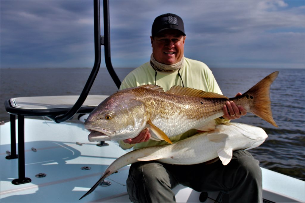Scott from FL is no stranger to catching Redfish in FL. He makes an annual trip to fish with us in Louisiana.